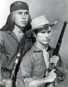 """Broken Arrow""  Indian leader Cochise, played by then 33 year old Michael Ansara, and his relationship with his white blood-brother, Indian Agent Tom Jeffords, played by John Lupton"
