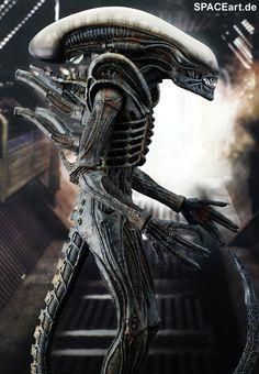 Alien 1: Big Chap Alien Warrior - Deluxe Figur, Fertig-Modell ... http://spaceart.de/produkte/al003.php