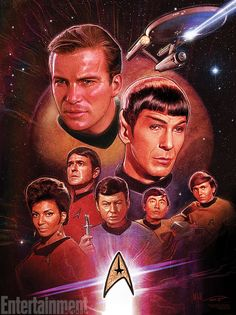 """... and its variant include Star Trek creator Gene Roddenberry with the Enterprise and its crew above him. Titled """"Gene's Dream,"""" the print is available in ..."""