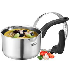 Steamer Pot Kitchen Accessories Double Bottom Saucepan Noodles Porridge Milk Heat Instant Pot (lid Can Stand) Cooker Universal