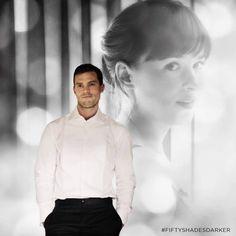 "Ana: ""Are you just going to stand there gawking?"" Christian: ""Yes."" #FiftyShadesDarker #fiftyshadestrilogy #JamieDornan #christiangrey #DakotaJohnson #AnastasiaSteele"