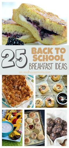 25 Back to School Breakfast Ideas on Real Housemoms