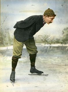 Jaap Eden / Famous Dutch skater, colored photograph