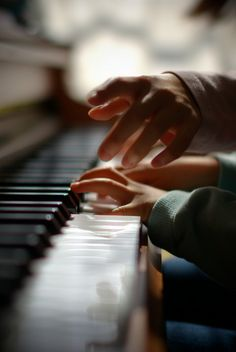 My boyfriend and I both play piano. I can't wait until we're married with kids we can teach to play.