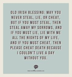 old irish wedding blessings | Irish Blessing