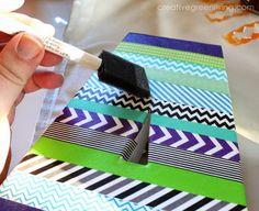How to Make Washi Tape Monograms ~ Creative Green Living