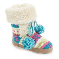 Women's MUK LUKS 'Jewel' Slipper ($34) ❤ liked on Polyvore featuring shoes, slippers, boots and pajamas
