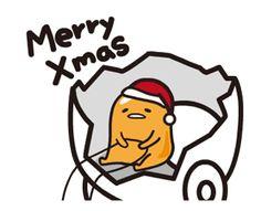 蛋黃哥說話動態貼圖-聖誕節&新年篇 - 許願貓 LINE 貼圖 - wish.cat2.me