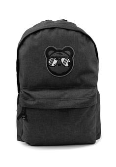 Bear Swagger Graphite Street Stye Backpack * 100% Polyester * Zip Around Fastening With Zip Front Pocket * Padded Adjustable Shoulder Straps * Bear Patch & Bear Zip Pulls * One Size 31 x 42 x 21