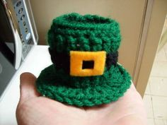 Leprechaun Hat Candy Dish - Crochet Free Pattern