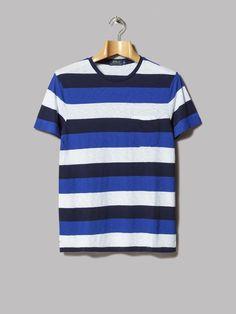 a5e457b651 Polo Ralph Lauren Custom Fit Crew Neck Striped T-Shirt (Cruise Navy Multi)