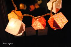 valentine origami box lighted garland 2.