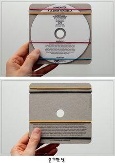 간편한 CD 포장 디자인 무인양품(MUJI) 느낌의 디자인! CD에 사진이나 노래를 담아 선물줄때 포장으로도 좋을듯 하다!! Homentage a la Cinta Meravella