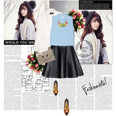 TIFFANY-SNSD by lovepastel on Polyvore featuring polyvore fashion style Equipment MANGO Opening Ceremony Charlotte Olympia Accessorize