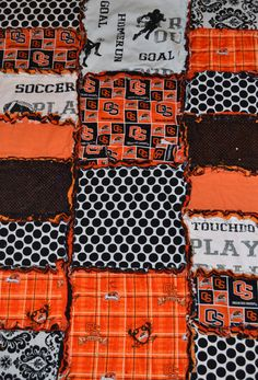 Oregon State Beaver Baby Rag Quilt