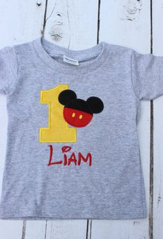 Mickey Mouse Clubhouse Inspired Birthday Shirt by OurLilBowtique