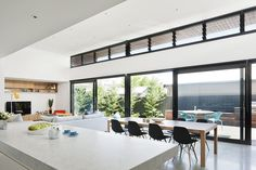 Electronic louvres let in additional light. Photo: Shannon McGrath.