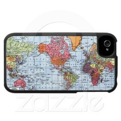 World Map iPhone 4 Case at Zazzle.ca