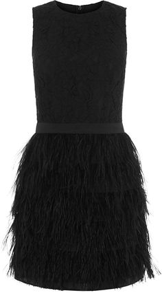 Pin for Later: Are Feathered Frocks the New Flapper Dresses?  Oasis Lace Bodice Feather Dress (£75, originally £130)