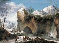 Франческо Фоски, виртуозный пейзажист Ледникового периода http://rupo.ru/m/5026/ #ФранческоФоски #итальянскаяживопись #зимнийпейзаж