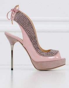 Lovely pink and rhinestone shoes