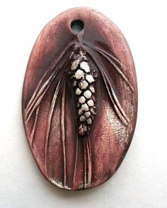 Winter Pine Cone Pendant by Mary Harding