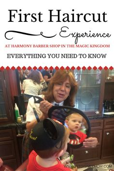 Get your toddler's first haircut on vacation, at Walt Disney World, with the Harmony Barber Shop. Here is everything you need to know!