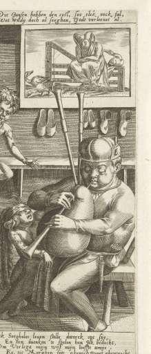 Zorgeloos leven in de schoenmakerswerkplaats, anonymous, after Jan Verbeeck, after c. 1545 - before 1584 - Rijksmuseum