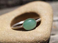 green aventurine ring by dadamietz on Etsy, $38.00