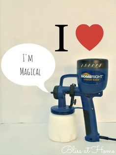 I Can Paint EVERYTHING With My Homeright Paint Sprayer! Get a professional finish on any painting project. You can use latex or oil-based paints, enamels and stains. AMAZING!!!