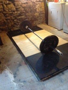 How To Build A Deadlifting Platform DIY | Home Gym Addict