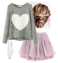 """""""Sickly sweet"""" by blondeblogger23 on Polyvore featuring Olympia Le-Tan, cute, purple, skirt, sweet and Sweater"""