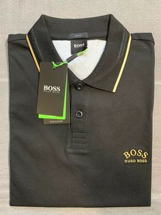 Hugo Boss Slim-fit polo shirt in stretch piqué with curved logo. Brand new. Slim Fit Polo Shirts, Athleisure, Hugo Boss, Polo Ralph Lauren, Brand New, Logo, Fitness, Mens Tops, Fashion