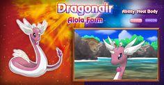 Dragonair Alola form. It's so pretty! I wonder what Dratini and Dragonite look…