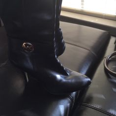 Michael Kors Long boots 3 1/2 in barely worn MK boots. Michael Kors Shoes Heeled Boots