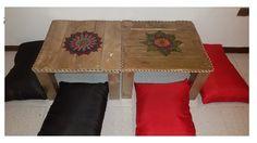 mesa con palets o estibas ( ESTILO ZEN CON MANDALAS )