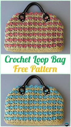 Crochet Loop Bag Free Pattern - #Crochet Handbag Free Patterns