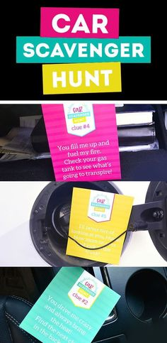 Free printables for a Car Scavenger Hunt for Dad from The Dating Divas Diy Presents, Presents For Mom, Gifts For Your Mom, Perfect Gift For Mom, Anniversary Surprise, Anniversary Ideas, Anniversary Scavenger Hunts, Couple Games, Family Games