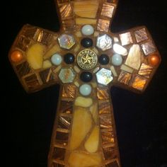 Harley Davidson mosaic cross!