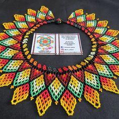 productos de la asociación jaipono #embera #indigena #asociacionjaipono #mostacilla Collar Indio, Beaded Embroidery, Panama, Color Mixing, Crochet Earrings, Beads, Instagram, Jewelry, Fashion