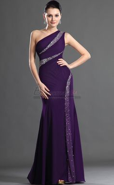 Regency Long Chiffon One Shoulder Mermaid Bridesmaid Dress In Purple Bd Ca503 Bridesmaidca