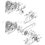 Stihl MS 291 Chainsaw Parts Diagram, Chain Tensioner Chain sprocket cover Chainsaw Parts, Ms, Diagram, Hair Accessories, Cover, Slipcovers, Hair Accessory