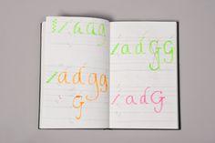 Flávio Carvalho — diário gráfico; 2014. #alquimiadacor #designeproduçãográfica #cadernográfico #graphicdiary #design #tipografia #typography