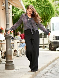 Wide Leg Trousers (Plus Size) 11/2016 #130                                                                                                                                                                                 More