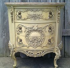 OK, I just had to share these recent furniture finds before I do my next redesign post.   I love this ornate marble top commode. I have to s...