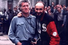 Roger Deakins & Frank Darabont on the set of THE SHAWSHANK REDEMPTION (1994)