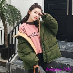 Womens Hooded Casual Cotton Padded Parka Loose Oversize Winter Warm Coat  Jacket  fashion  clothing 55dddfc0771e