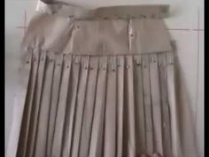 Falda Escolar Plisada 5 en tela rígida o plana - YouTube