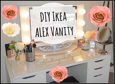 DIY Ikea ALEX Vanity - Blushing in Hollywood