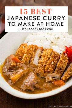 Do you love a good curry? Here we've rounded up our most delicious Japanese curry recipes you'd want to make over and over again. Japanese Chicken Curry, Chicken Katsu Curry, Authentic Japanese Curry Recipe, Beef Curry Recipe Japanese, Easy Japanese Recipes, Japanese Dishes, Asian Recipes, Katsu Curry Recipes, Gastronomia